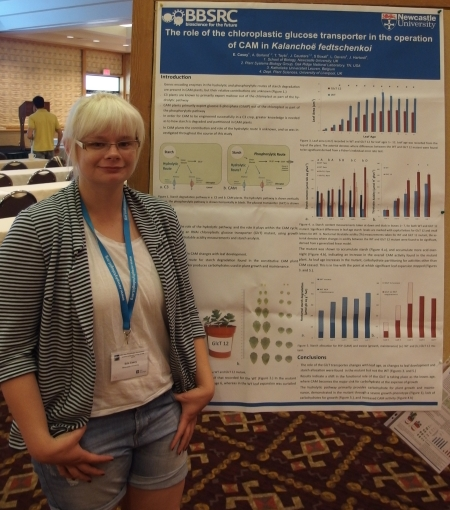 Erin Casey - poster prize runner-up - 34th New Phytologist Symposium: Systems biology & ecology of CAM plants