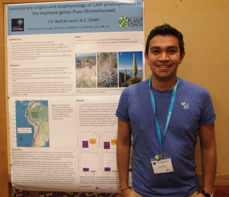 Juan David Beltran - poster prize winner - 34th New Phytologist Symposium: Systems biology & ecology of CAM plants